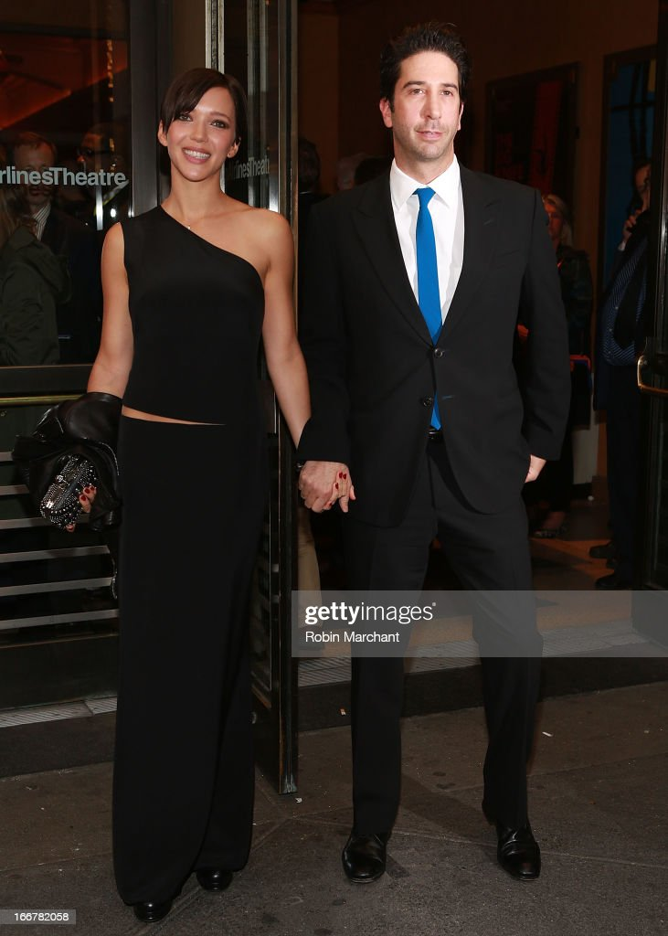 Zoe Buckman (L) and <a gi-track='captionPersonalityLinkClicked' href=/galleries/search?phrase=David+Schwimmer&family=editorial&specificpeople=206148 ng-click='$event.stopPropagation()'>David Schwimmer</a> attend 'The Big Knife' Broadway opening night at American Airlines Theatre on April 16, 2013 in New York City.