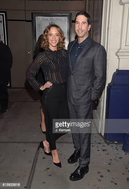 Zoe Buckman and David Schwimmer attend the 'The Front Page' Broadway Opening Night at The Broadhurst Theatre on October 20 2016 in New York City