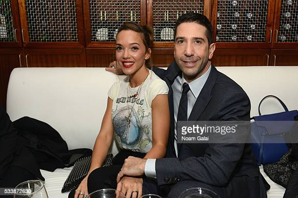 Zoe Buckman and David Schwimmer attends the AMC's Feed The Beast Premiere on May 23 2016 in New York City