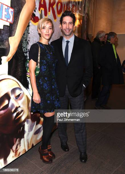 Zoe Buckman and David Schwimmer attends the 'Domesticated' Opening Night at Mitzi E Newhouse Theater on November 4 2013 in New York City