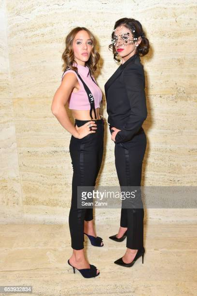 Zoe Buckman and Shari Loeffler attend Art Production Fund's Bright Lights Big City Gala at Seagram Building on March 13 2017 in New York City