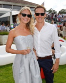 Zoe Cole and Brendan Cole attend Audi International at Guards Polo Club near Windsor to support England as it faces Argentina for the Coronation Cup...