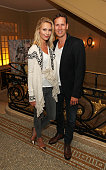 Zoe Cole and Brendan Cole attend the after party following the press night performance of 'McQueen' at The Club at Cafe Royal on August 27 2015 in...