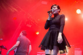 Zoe Colotis of Caravan Palace performs at Somerset House on July 14 2016 in London England