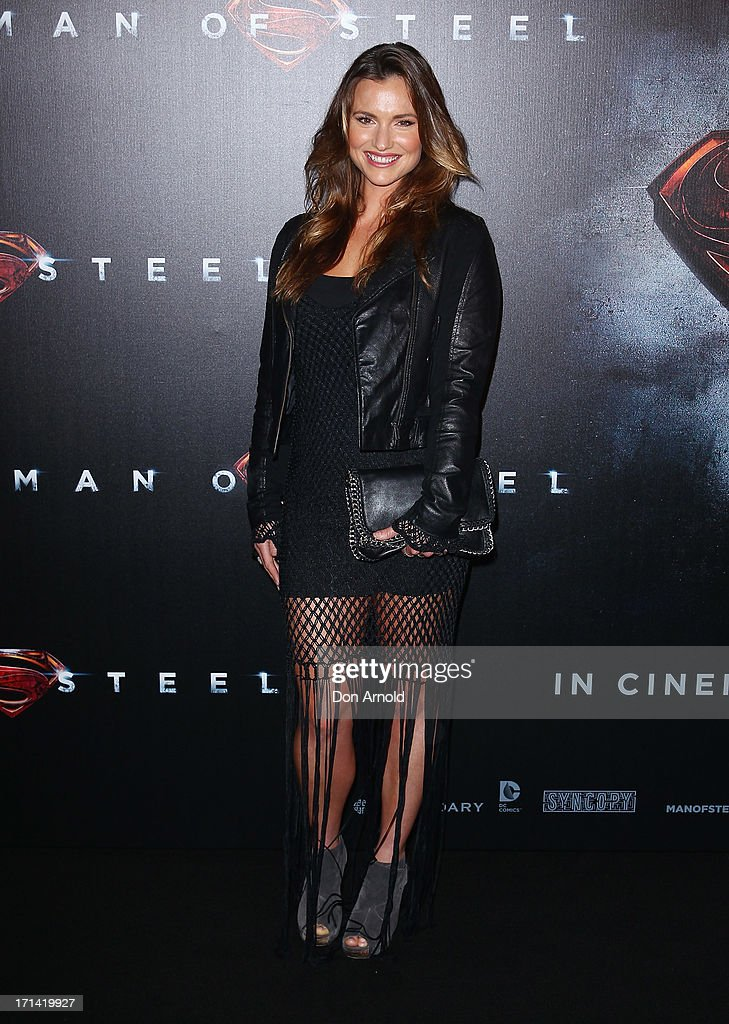 Zoe Crammond attends the 'Man Of Steel' Australian Premiere at Event Cinemas, George Street on June 24, 2013 in Sydney, Australia.