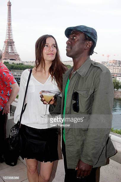 Zoe Felix and Marco Prince attend to the Carrera private party at Shine on Terrace on June 24 2010 in Paris France