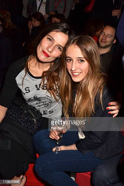 Zoe Felix and Perle Rolland attend the Paul and Joe Ready to Wear Fall/Winter 2011/2012 show during Paris Fashion Week at the Olympia on March 7 2011...