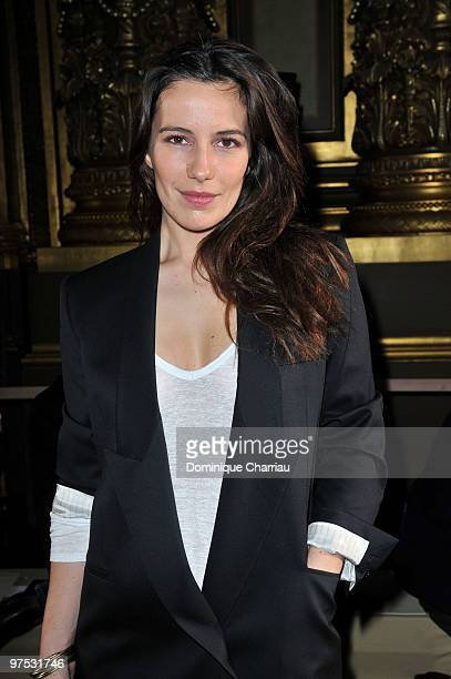 Zoe Felix attends the Stella McCartney Ready to Wear show as part of the Paris Womenswear Fashion Week Fall/Winter 2011 at Opera Garnier on March 8...