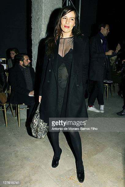 Zoe Felix attends the Zac Posen Ready to Wear Autumn/Winter 2011/2012 show during Paris Fashion Week at Palais De Tokyo on March 3 2011 in Paris...