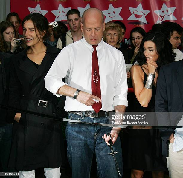 Zoe Felix Bruce Willis and Jenifer Bartoli during 'La Fete du Cinema' Ribbon cutting Ceremony Photocall at UGC Cine Cite Bercy in Paris France