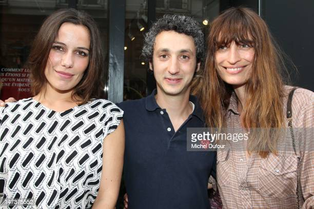 Zoe Felix Jerome Dreyfuss and Caroline De Maigret attend the Jerome Dreyfuss Men Shop Opening as part of Paris Fashion Week at on June 28 2012 in...
