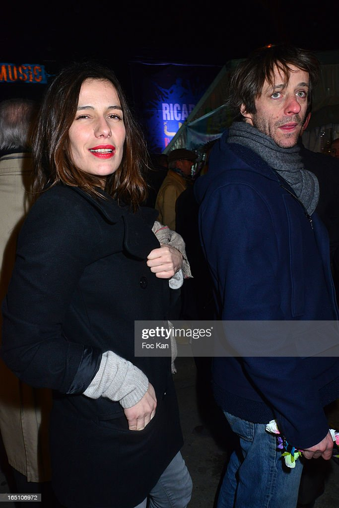 Zoe Felixand Benjamin Rolland attend 'Les Toiles Enchantees' Children Care Association Auction Dinner During The 50th Foire du Trone at Pelouse de Reuilly on March 29, 2013 in Paris, France.