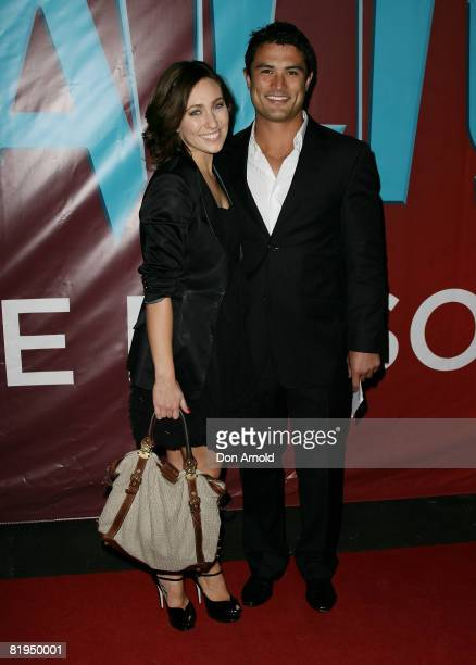 Zoe Foster and Craig Wing attend the Australian Premiere of Cirque du Soleil's `Dralion' in the Entertainment Quarter on July 16 2008 in Sydney...