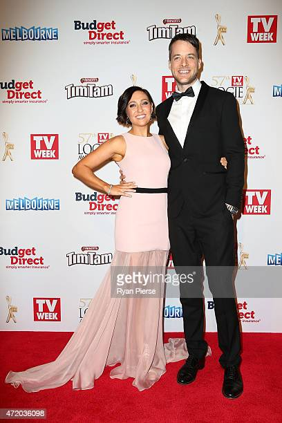 Zoe Foster and Hamish Blake arrive at the 57th Annual Logie Awards at Crown Palladium on May 3 2015 in Melbourne Australia