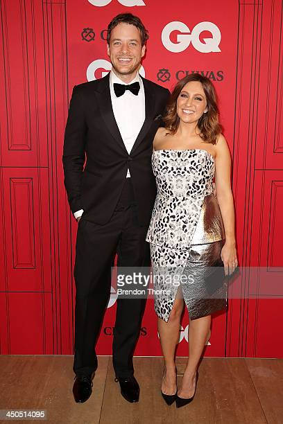 Zoe Foster and Hamish Blake arrive at the GQ Men of the Year awards at the Ivy Ballroom on November 19 2013 in Sydney Australia