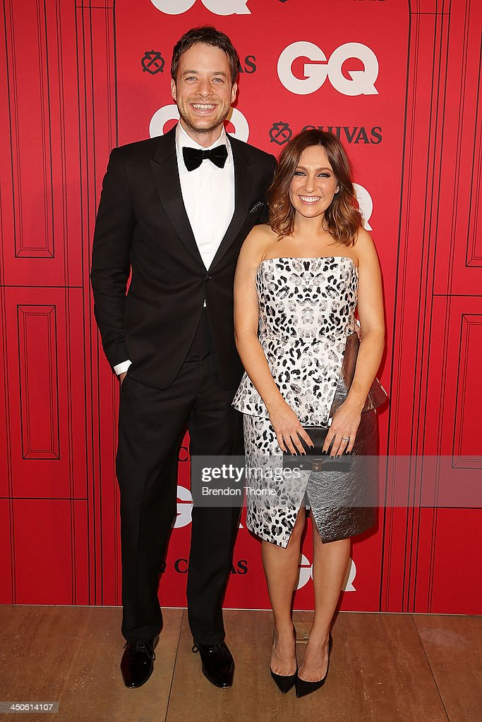 Zoe Foster and Hamish Blake arrive at the GQ Men of the Year awards at the Ivy Ballroom on November 19, 2013 in Sydney, Australia.