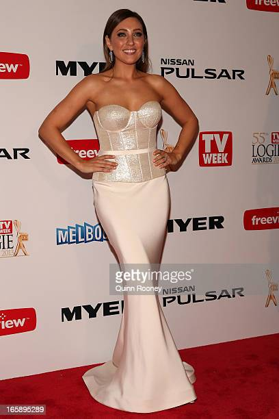 Zoe Foster arrives at the 2013 Logie Awards at the Crown Palladium on April 7 2013 in Melbourne Australia