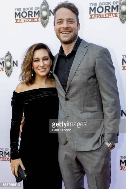 Zoe Foster Blake and Hamish Blake arrives ahead of The Book of Mormon opening night at Princess Theatre on February 4 2017 in Melbourne Australia