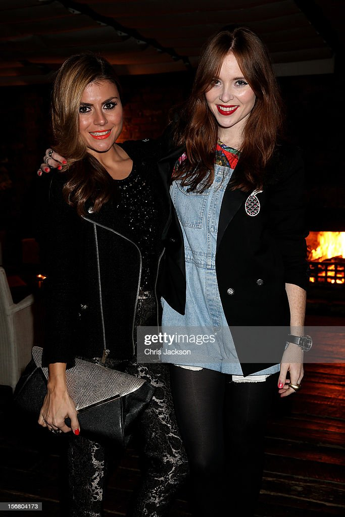 Zoe Hardman and Angela Scanlon attend the Vodafone Fashionable Pub Quiz at Shoreditch House on November 21, 2012 in London, United Kingdom. As Principal Sponsor of London Fashion Week, the quiz celebrated Vodafone's commitment to British Fashion.