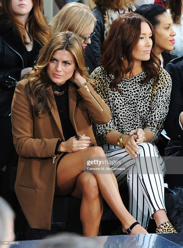 Zoe Hardman (L) and <a gi-track='captionPersonalityLinkClicked' href=/galleries/search?phrase=Erin+McNaught&family=editorial&specificpeople=885741 ng-click='$event.stopPropagation()'>Erin McNaught</a> attend the London College of Fashion MA show during London Fashion Week Fall/Winter 2013/14 at The Royal Opera House on February 15, 2013 in London, England.