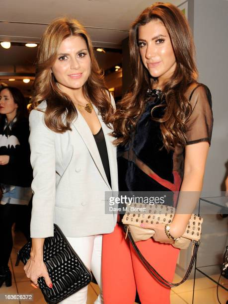 Zoe Hardman and Gabriella Ellis attend the Panasonic Technics 'Shop To The Beat' Party hosted by George Lamb at French Connection Oxford Circus on...