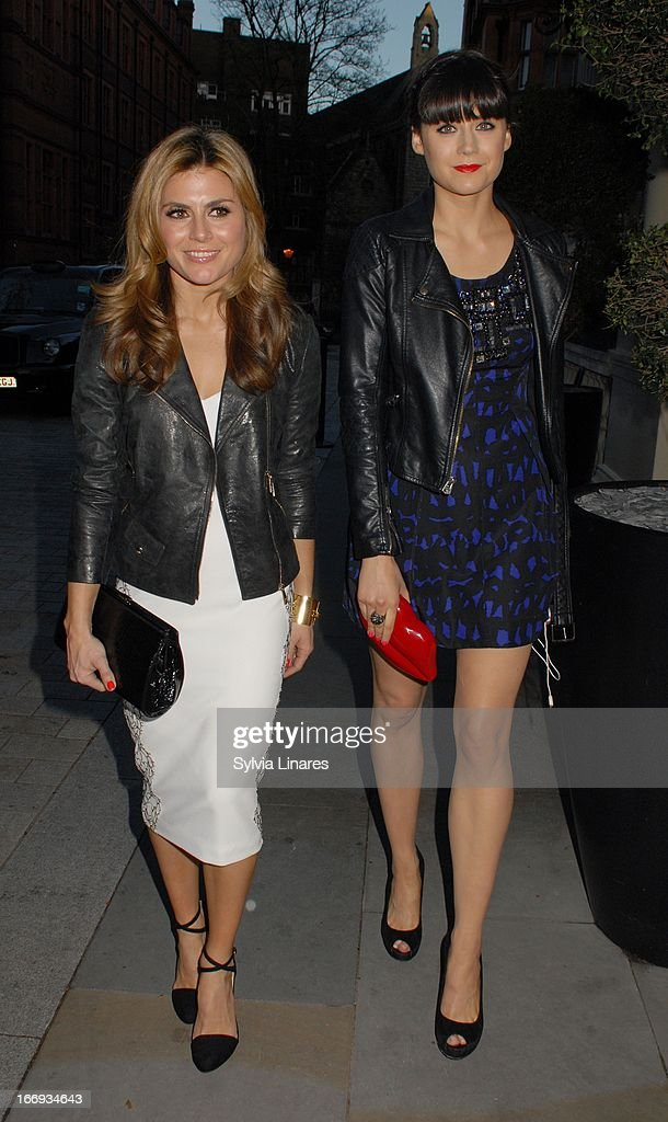 Zoe Hardman and Liah Parsons attends Womenswear Sophia Kah Launch Party Held at the Connaught hotel on April 18, 2013 in London, England.