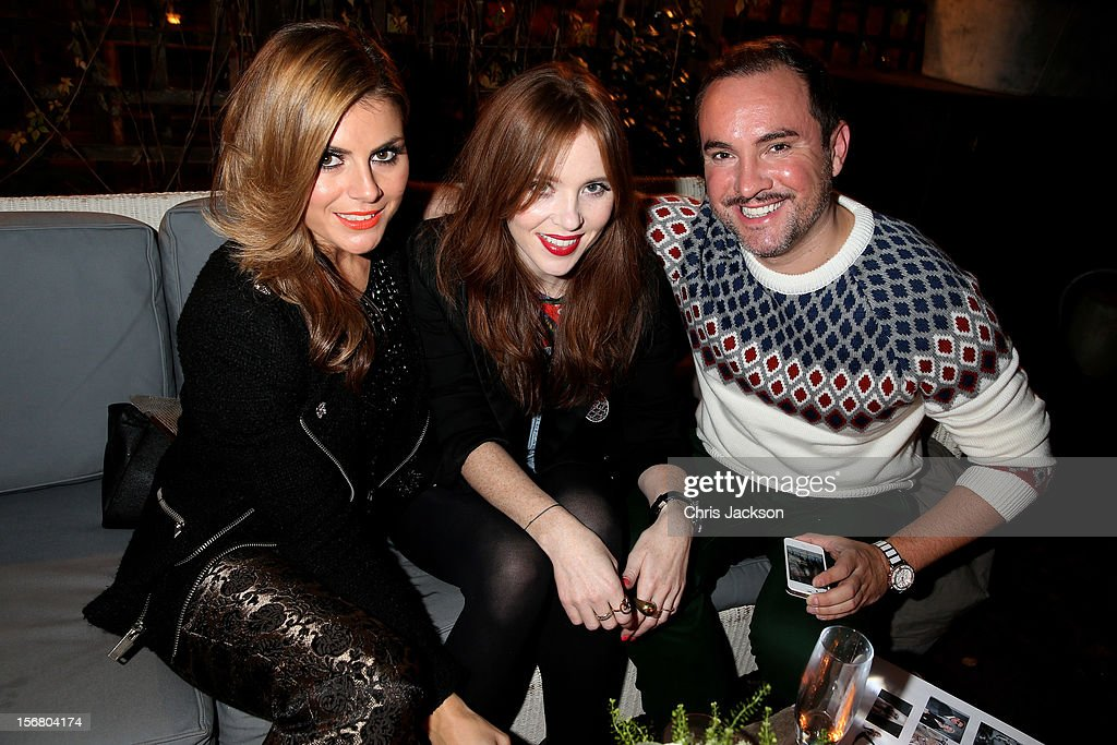 Zoe Hardman, Angela Scanlon and Nick Ede attend the Vodafone Fashionable Pub Quiz at Shoreditch House on November 21, 2012 in London, United Kingdom. As Principal Sponsor of London Fashion Week, the quiz celebrated Vodafone's commitment to British Fashion.
