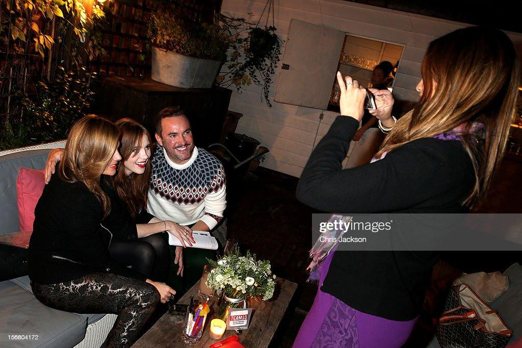 Zoe Hardman, Angela Scanlon, Nick Ede and Katy Wickremesinghe attend the Vodafone Fashionable Pub Quiz at Shoreditch House on November 21, 2012 in London, United Kingdom. As Principal Sponsor of London Fashion Week, the quiz celebrated Vodafone's commitment to British Fashion.