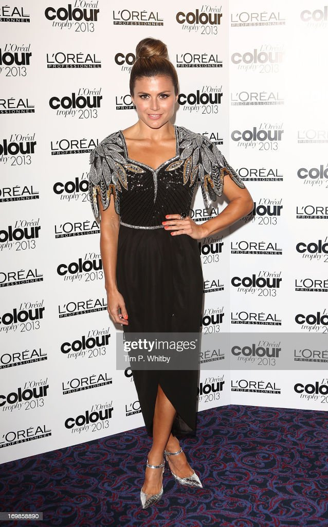 Zoe Hardman arrives the L'Oreal Colour Trophy Awards 2013 at Grosvenor House, on June 3, 2013 in London, England.