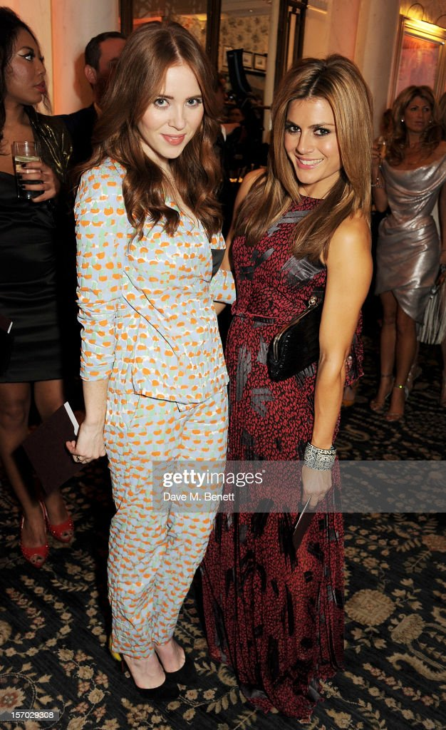 Zoe Hardman (R) attends a drinks reception at the British Fashion Awards 2012 at The Savoy Hotel on November 27, 2012 in London, England.