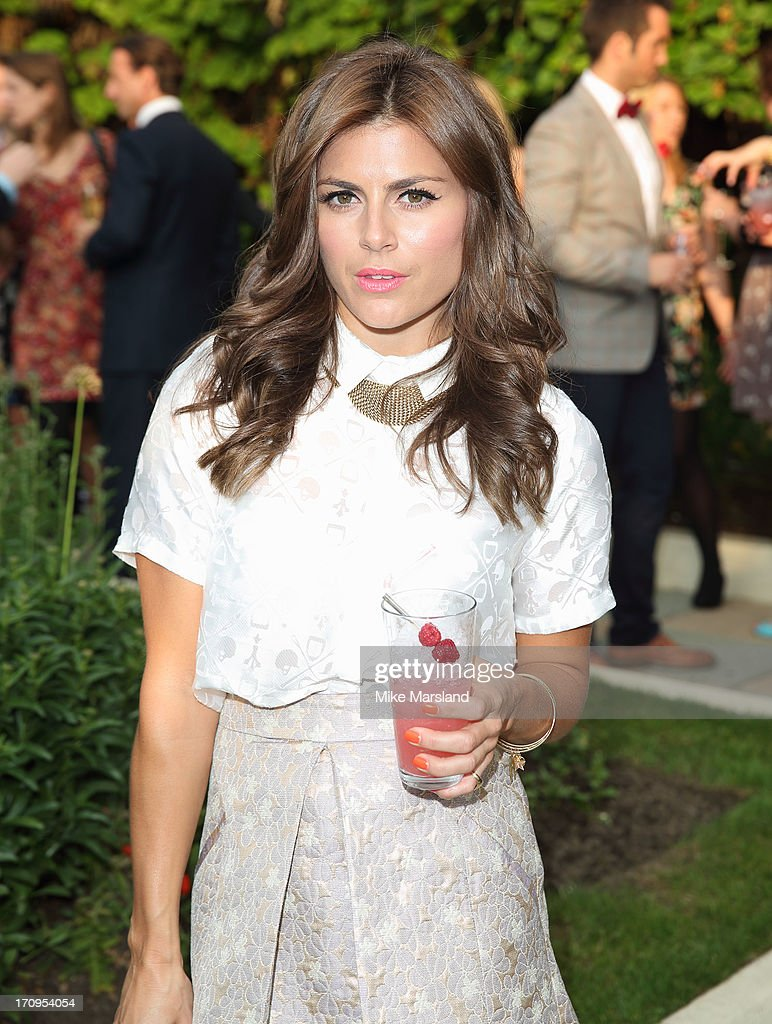 <a gi-track='captionPersonalityLinkClicked' href=/galleries/search?phrase=Zoe+Hardman&family=editorial&specificpeople=2278465 ng-click='$event.stopPropagation()'>Zoe Hardman</a> attends the annual pre-Wimbledon party at Kensington Roof Gardens on June 20, 2013 in London, England.