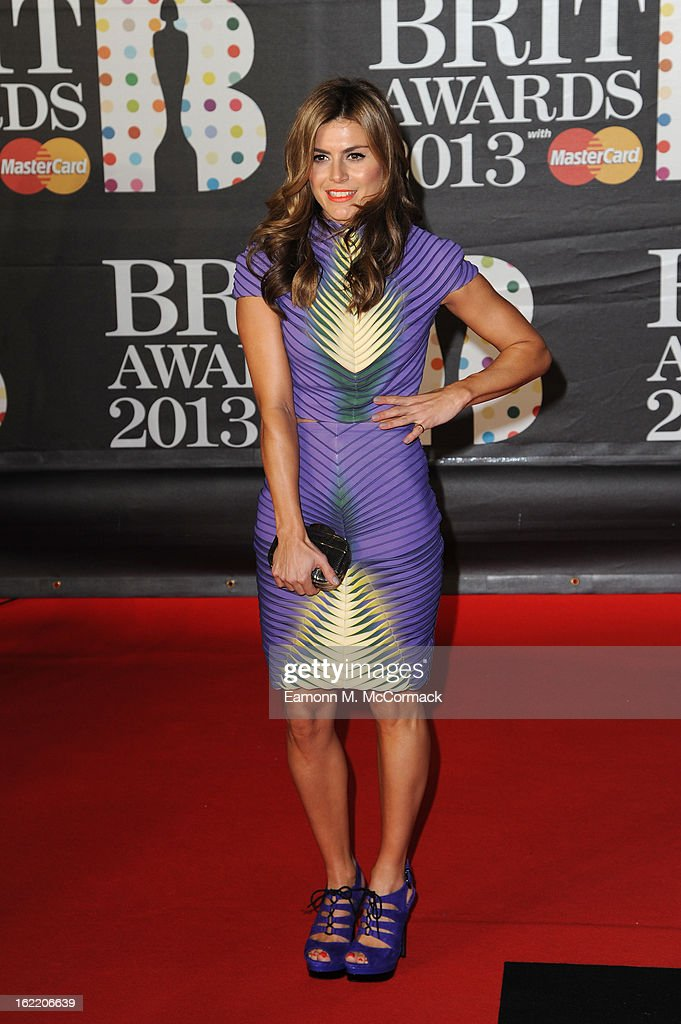 Zoe Hardman attends the Brit Awards 2013 at the 02 Arena on February 20, 2013 in London, England.