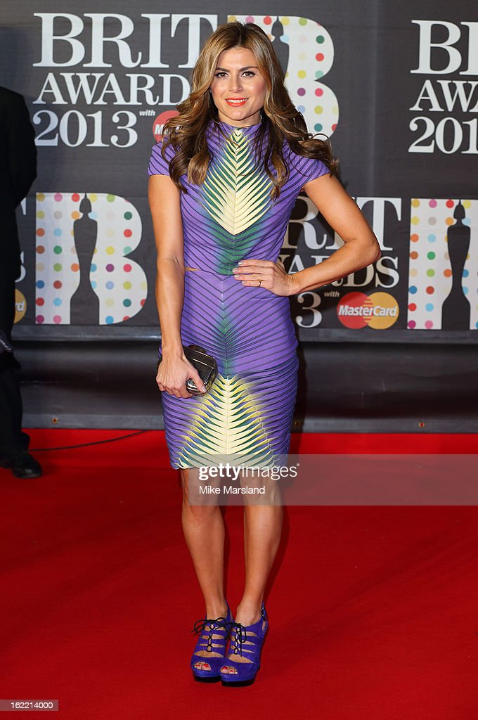 Zoe Hardman attends the Brit Awards at 02 Arena on February 20, 2013 in London, England.