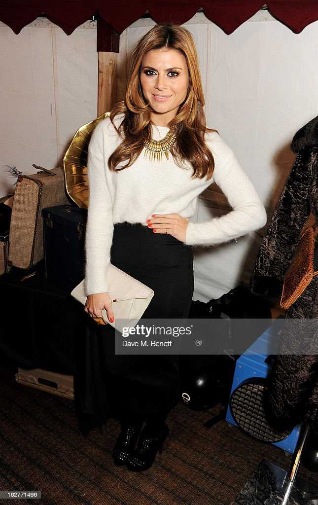 Zoe Hardman attends the Galaxy Pop Up Drive-In Cinema at the Doon Street Car Park on February 26, 2013 in London, England.