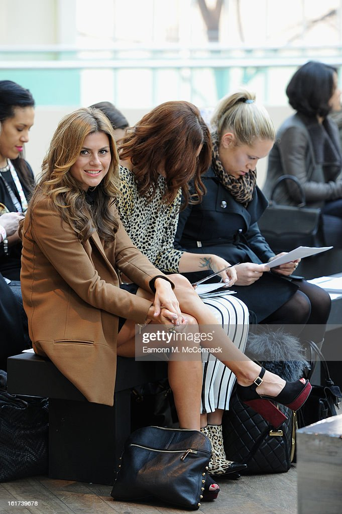 Zoe Hardman attends the London College of Fashion MA show during London Fashion Week Fall/Winter 2013/14 at The Royal Opera House on February 15, 2013 in London, England.