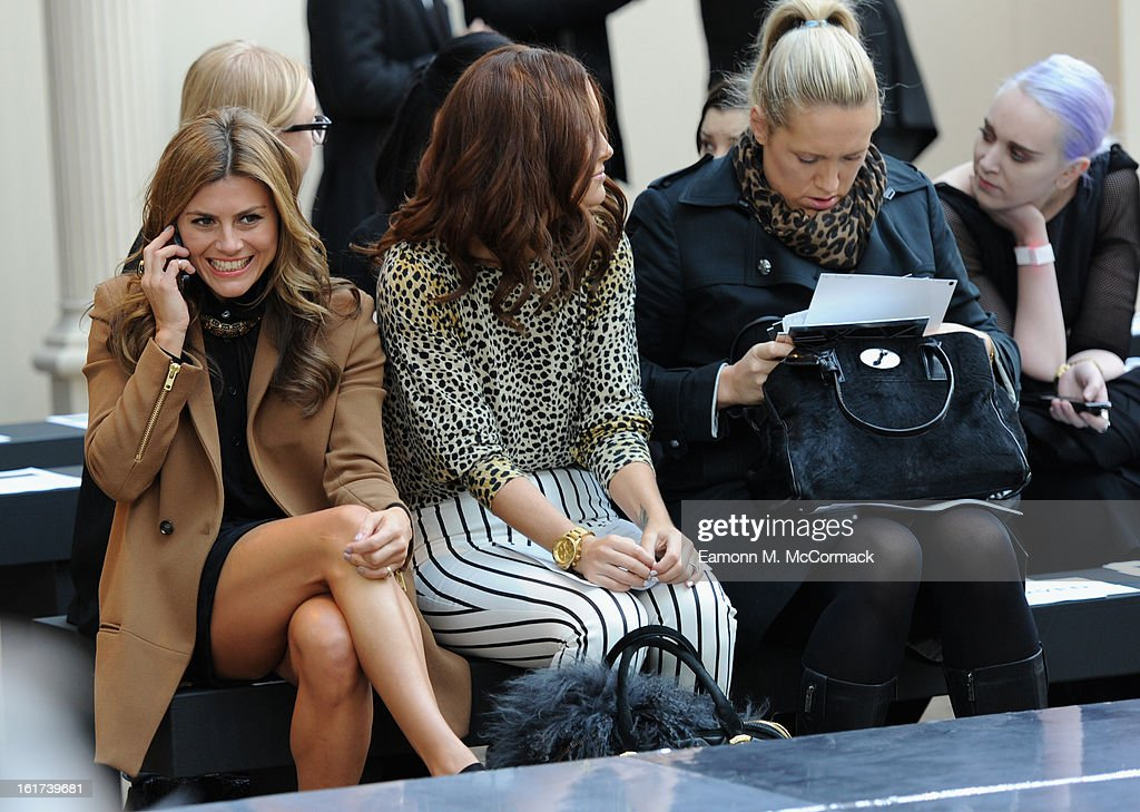 Zoe Hardman (L) attends the London College of Fashion MA show during London Fashion Week Fall/Winter 2013/14 at The Royal Opera House on February 15, 2013 in London, England.