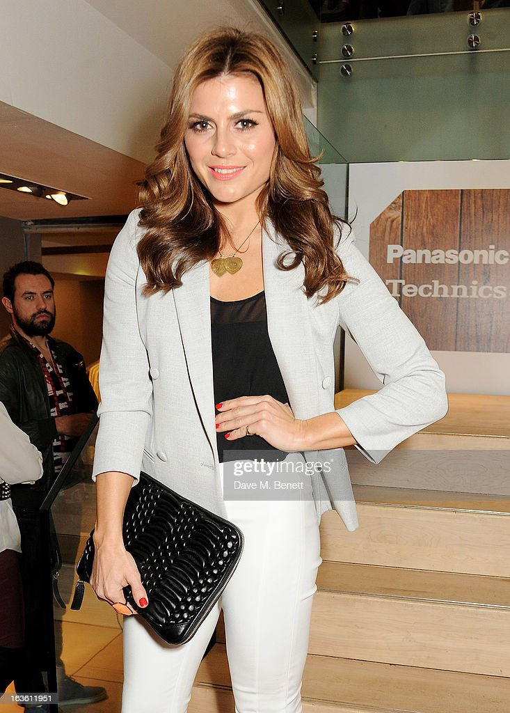 Zoe Hardman attends the Panasonic Technics 'Shop To The Beat' Party hosted by George Lamb at French Connection Oxford Circus on March 13 2013 in...