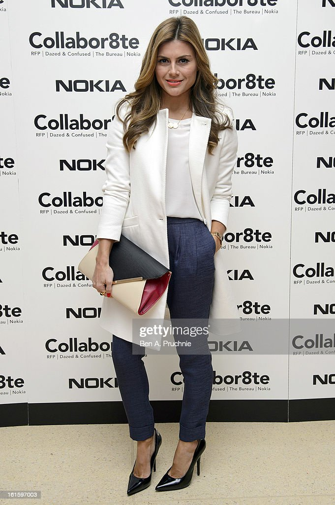 Zoe Hardman attends the premiere of Rankin's Collabor8te connected by NOKIA at Regent Street Cinema on February 12, 2013 in London, England.
