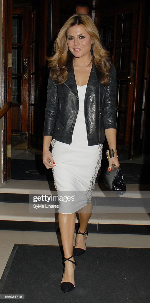 Zoe Hardman attends Womenswear Sophia Kah Launch Party Held at the Connaught hotel on April 18, 2013 in London, England.