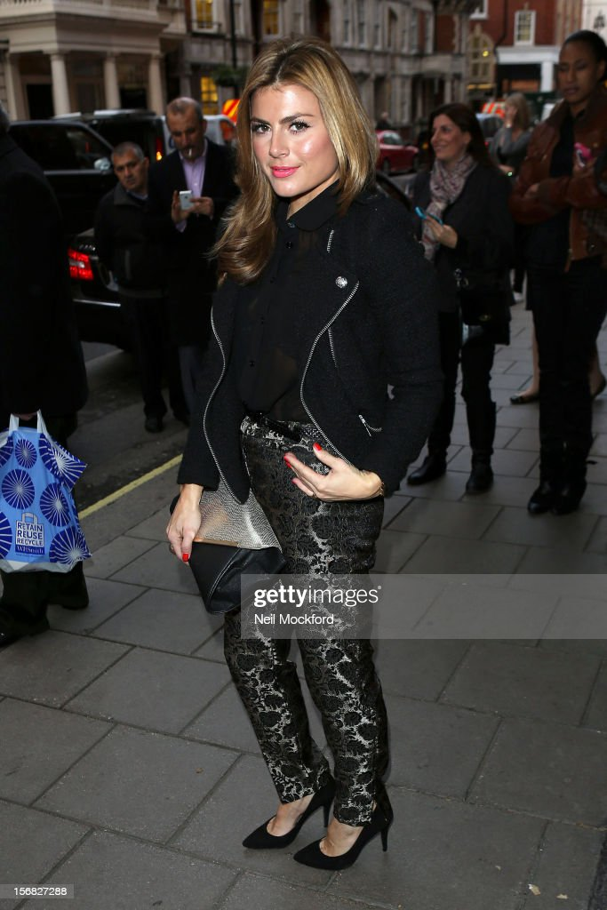 Zoe Hardman seen arriving at Claridges Hotel for The AVON and Women's Aid Empowering Women Awards on November 22, 2012 in London, England.