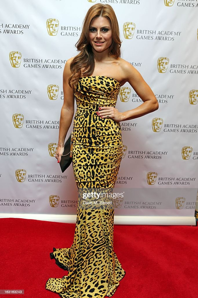 Zoe Hardmann attends The British Academy Games Awards at London Hilton on March 5, 2013 in London, England.