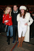 Zoe Hobbs Brendan Cole and Lizzie Cundy attends the Winter Wonderland VIP opening at Hyde Park on November 20 2014 in London England