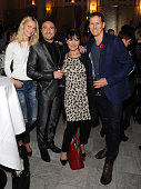 Zoe Hobbs Vincent Simone Arlene Phillips and Brendan Cole attends an after party following the press night performance of 'Dance 'Til Dawn' at The...