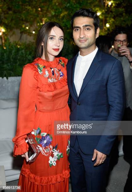 Zoe Kazan and Kumail Nanjiani attend 'The Big Sick' New York Premiere after party at The Roof on June 20 2017 in New York City