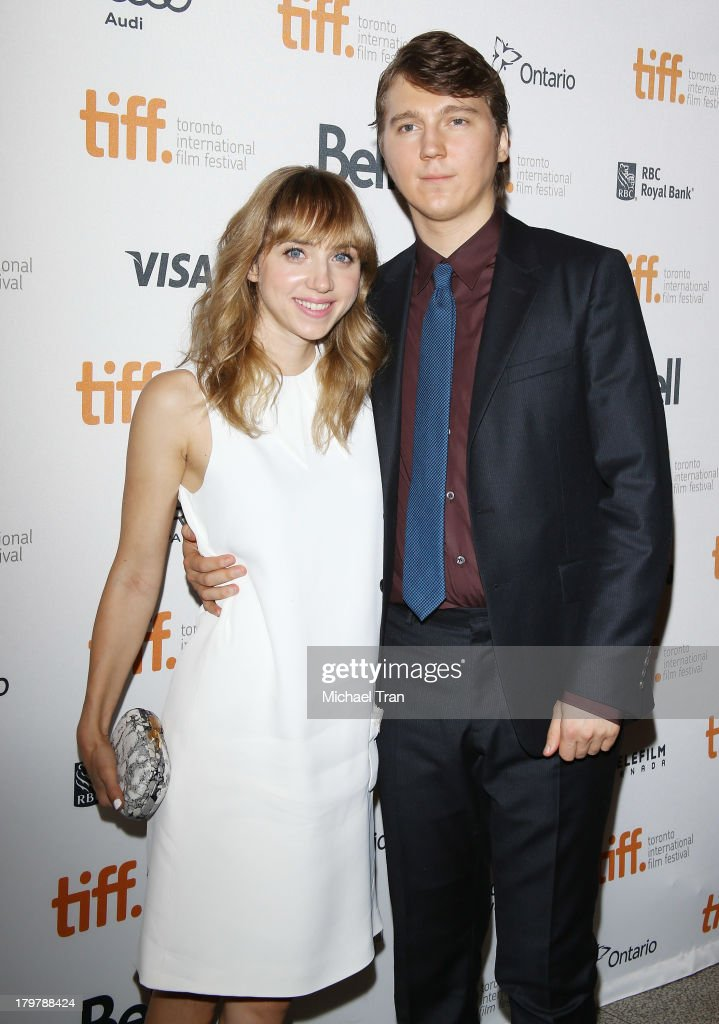 Zoe Kazan and Paul Dano arrive at the 'Prisoners' premiere during the 2013 Toronto International Film Festival held at The Elgin on September 6 2013...