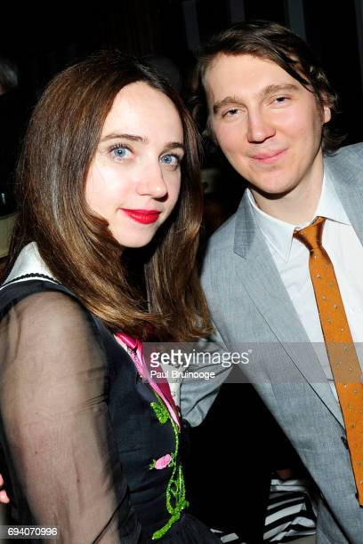 Zoe Kazan and Paul Dano attend Netflix hosts the after party for 'Okja' at AMC Lincoln Square Theater on June 8 2017 in New York City