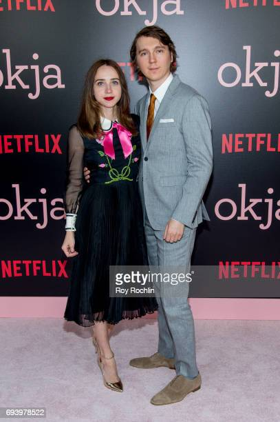 Zoe Kazan and Paul Dano attends the New York premiere of 'Okja' at AMC Lincoln Square Theater on June 8 2017 in New York City