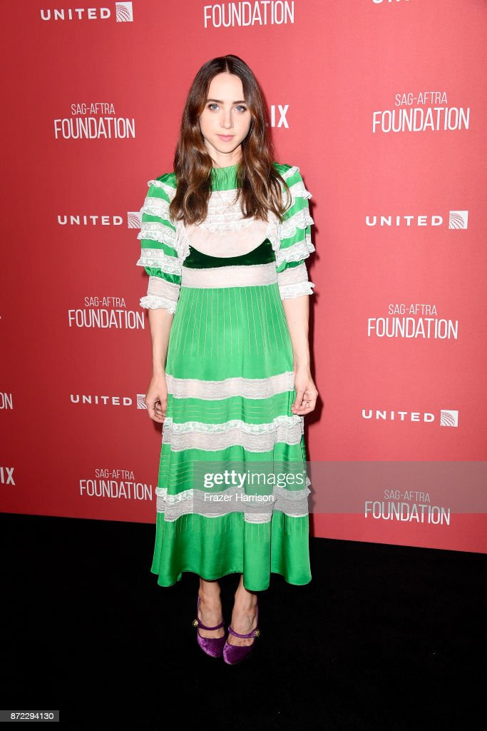 Zoe Kazan attends the SAG-AFTRA Foundation Patron of the Artists Awards 2017 at the Wallis Annenberg Center for the Performing Arts on November 9, 2017 in Beverly Hills, California.