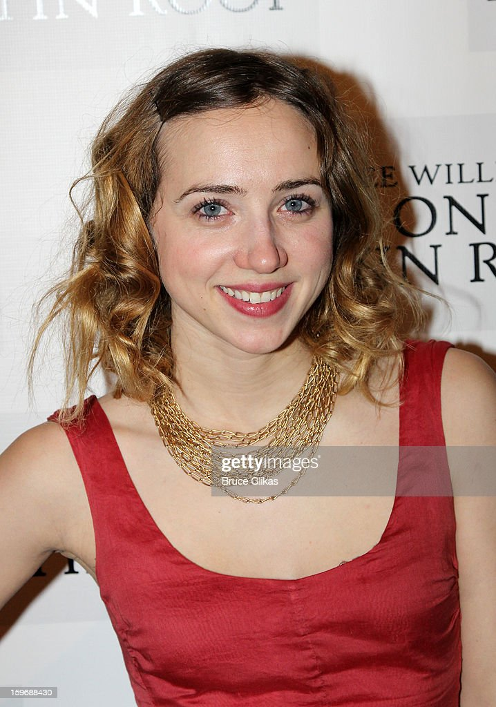 Zoe Kazan poses at the after party on opening night of 'Cat On A Hot Tin Roof' on Broadway at Chelsea Piers Lighthouse Pier 60 on January 17, 2013 in New York City.