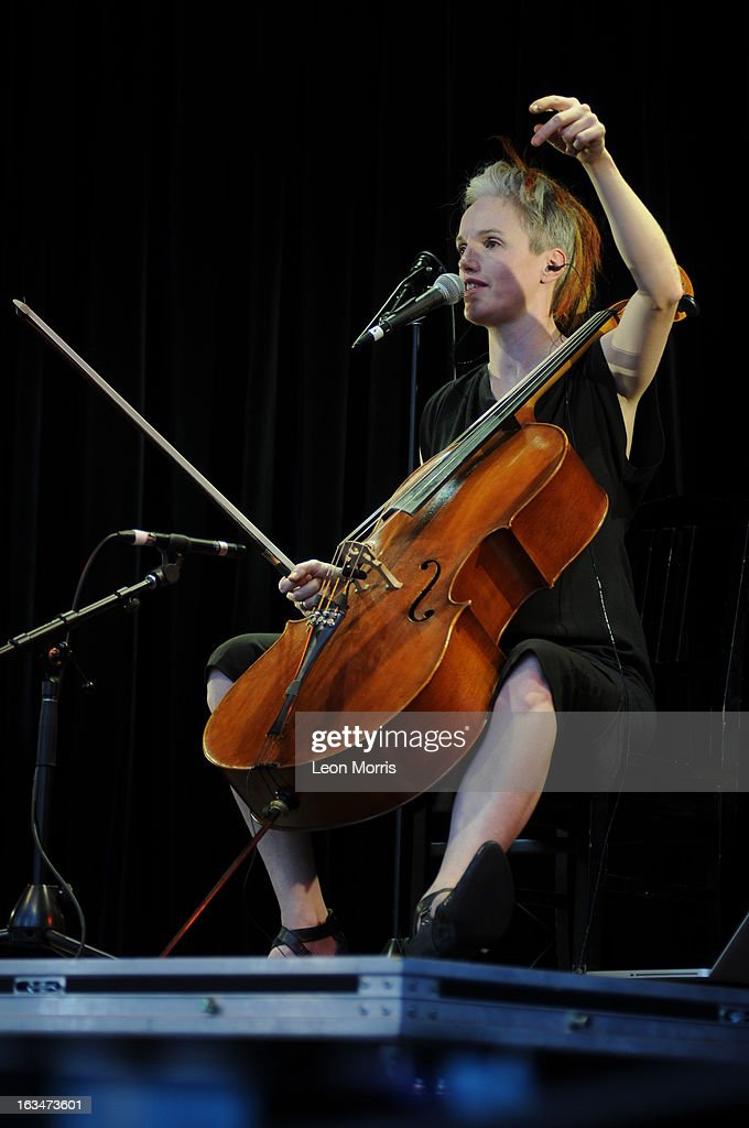 Zoe Keating performs on stage at Womadelaide 2013 at Botanic Park on March 10, 2013 in Adelaide, Australia.